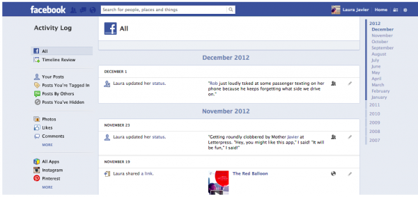 New Facebook Privacy Settings For December 2012